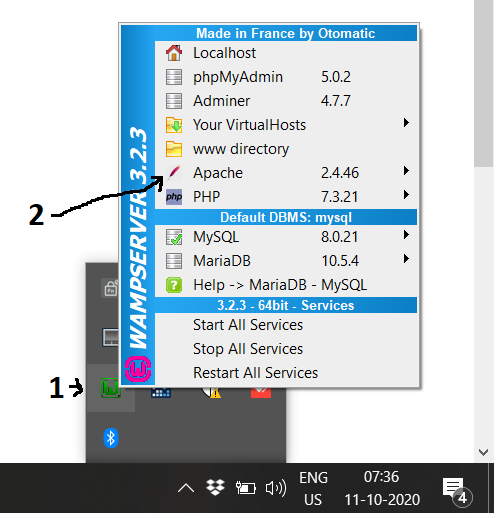 WampServer - Windows - Tray Icon