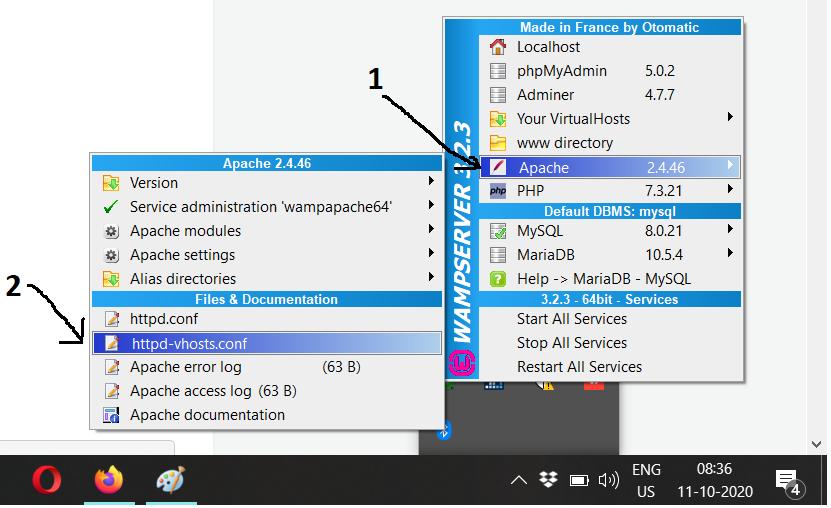 WampServer - Windows - HTTPD - Virtual Hosts
