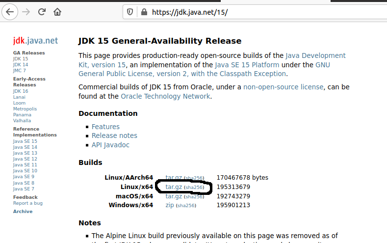 Install OpenJDK 15 On Ubuntu 20.04 LTS - Downloads