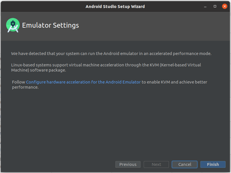 Install Andriod Studio On Ubuntu 20.04 - Emulator Settings