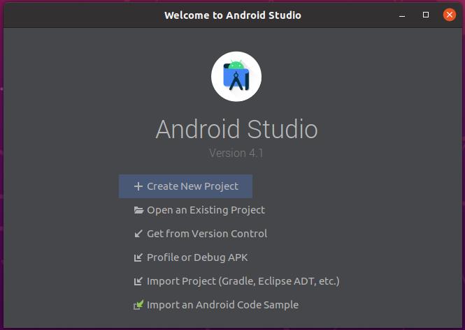 Install Andriod Studio On Ubuntu 20.04 - New Project