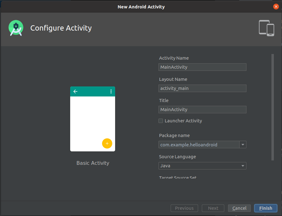Install Andriod Studio On Ubuntu 20.04 - Configure Activity