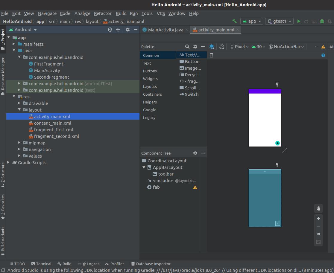 Install Andriod Studio On Ubuntu 20.04 -  Layout Editor