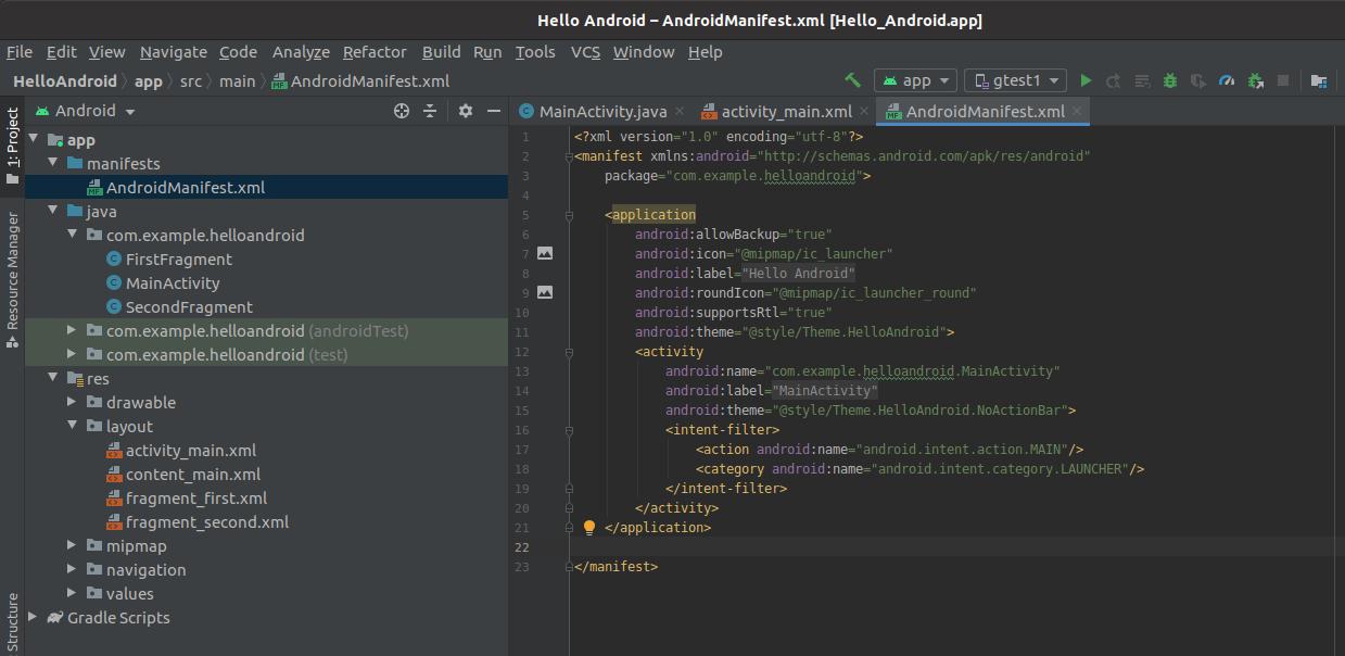 Install Andriod Studio On Ubuntu 20.04 - Manifest