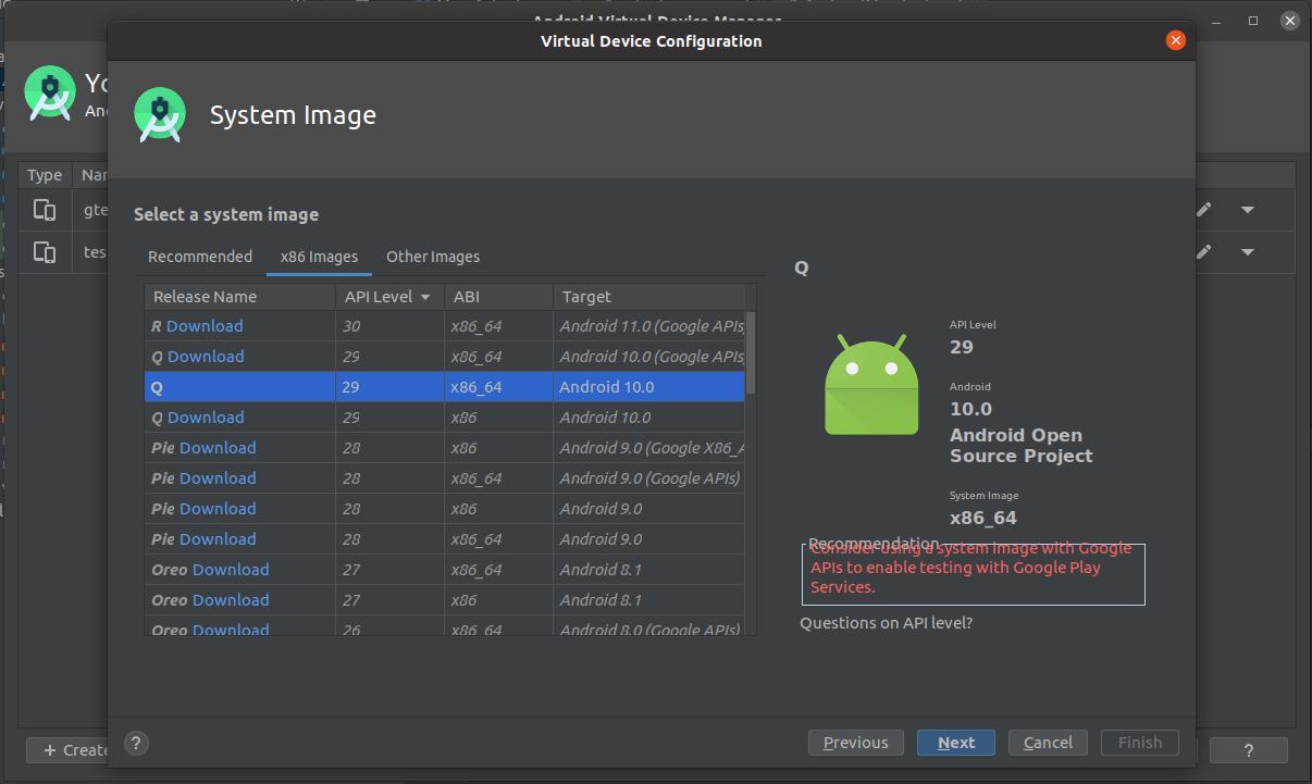 Install Andriod Studio On Ubuntu 20.04 - AVD System Image