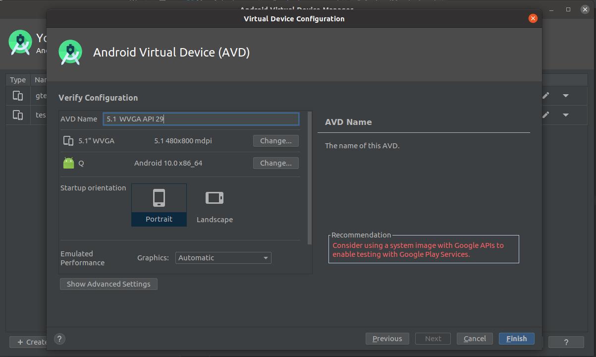 Install Andriod Studio On Ubuntu 20.04 - Config AVD
