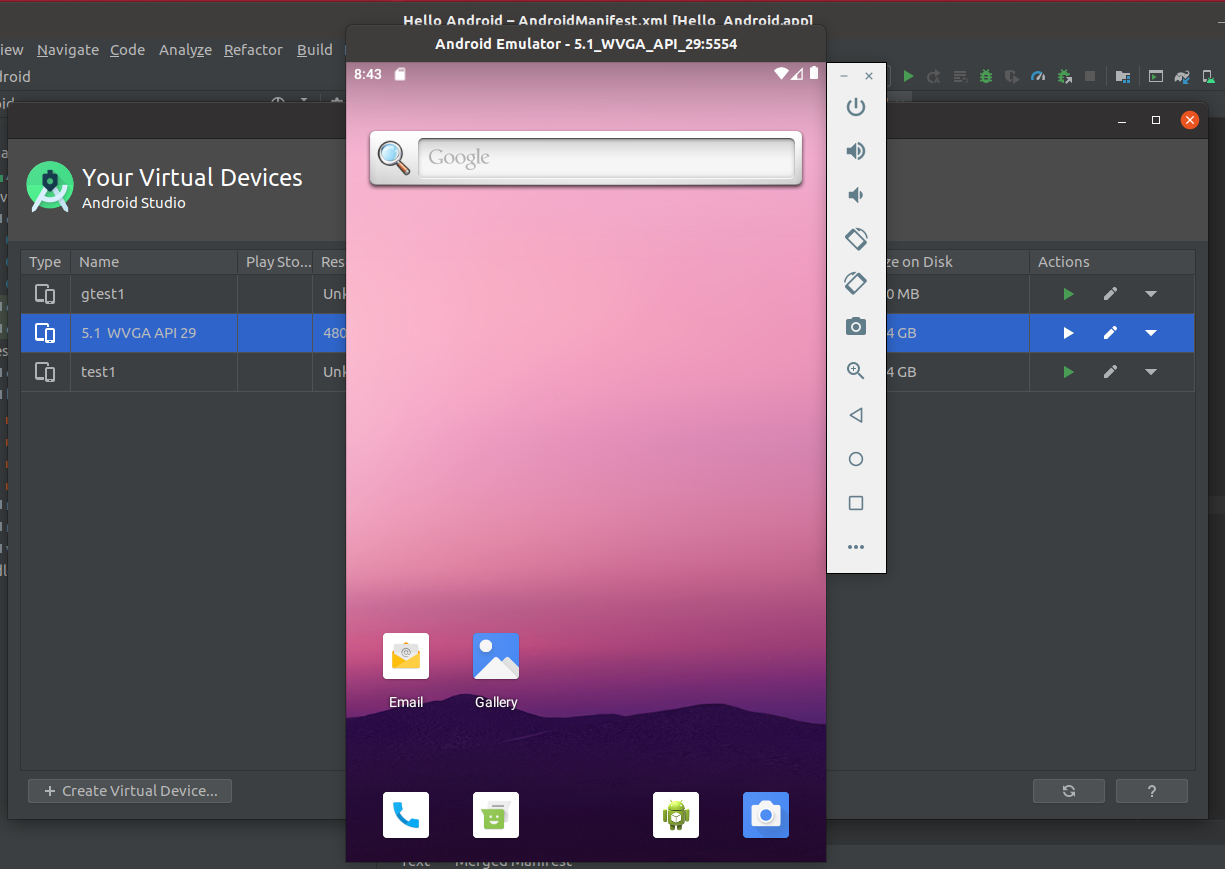 Install Andriod Studio On Ubuntu 20.04 - AVD