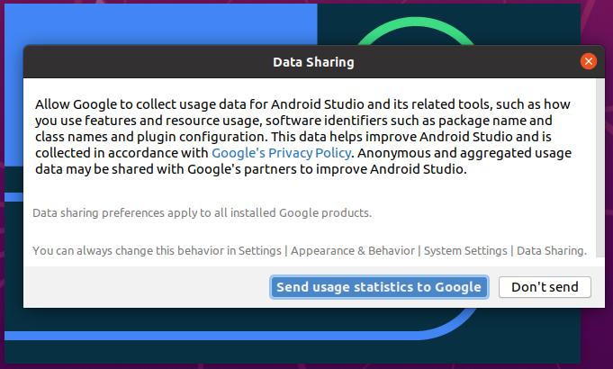 Install Andriod Studio On Ubuntu 20.04 - Data Sharing