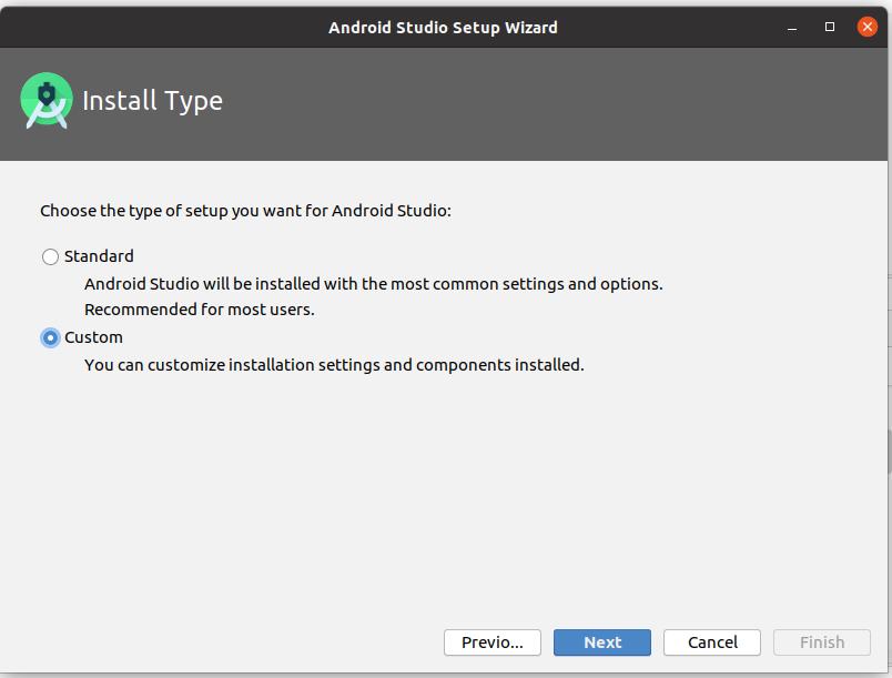 Install Andriod Studio On Ubuntu 20.04 - Install Type