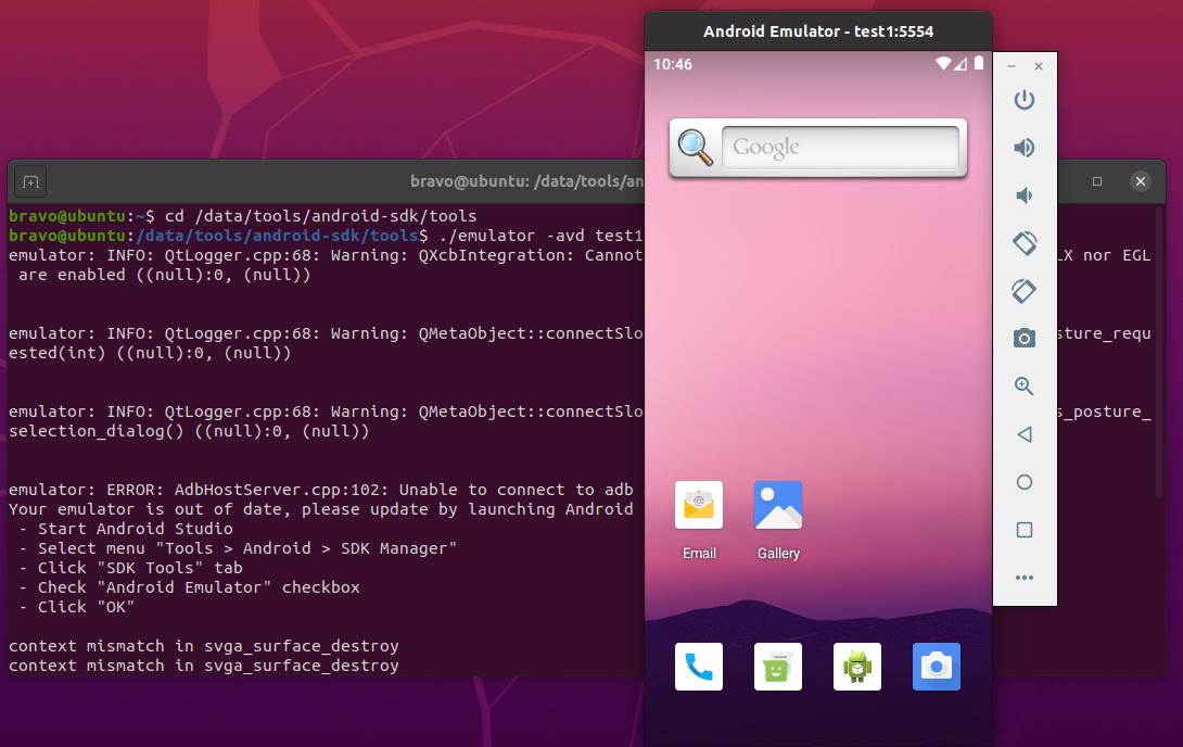 Install Android SDK Tools On Ubuntu 20.04 - AVD
