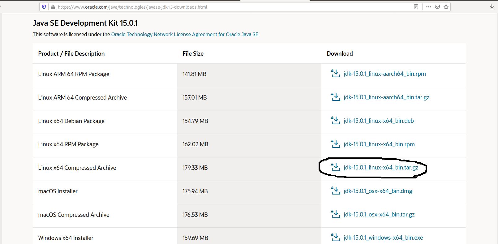Install Java 15 On Ubuntu 20.04 LTS - Downloads