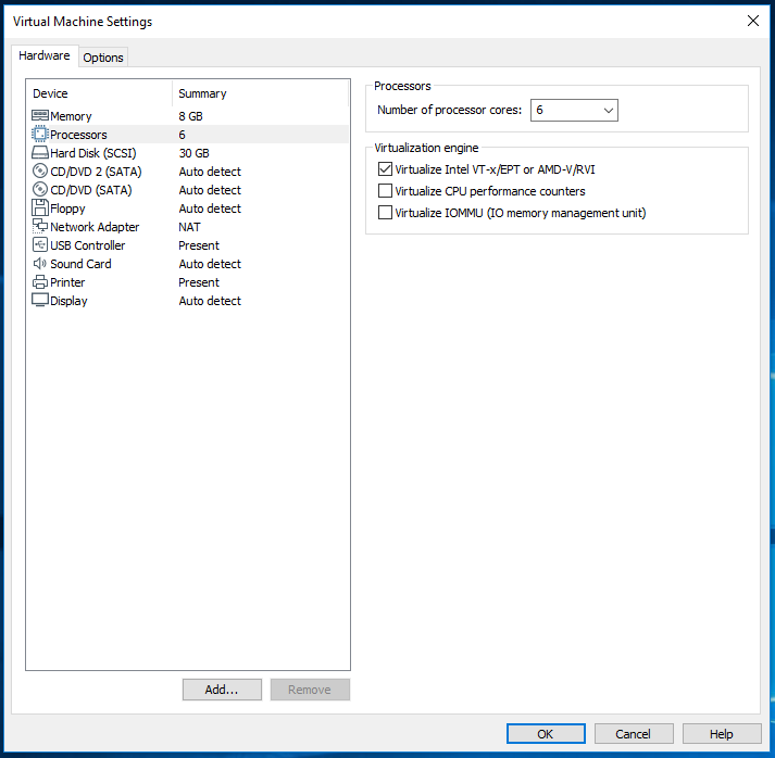 Android AVD - VMware - Virtualization