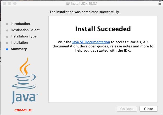 Install Java 15 On Mac - Success