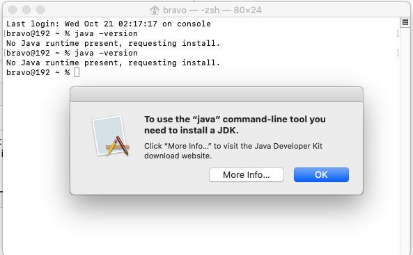 Install OpenJDK 15 On Mac - Java Warning