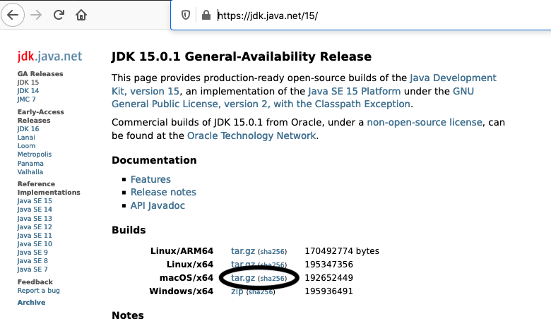 Install OpenJDK 15 On Mac - Downloads
