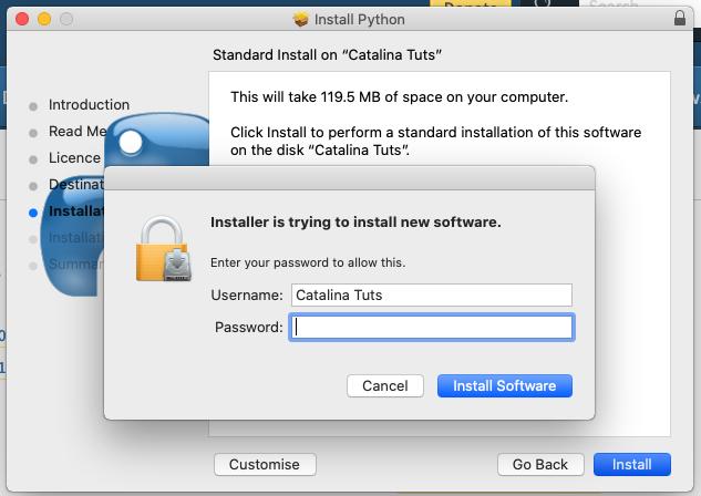 Install Python 3.9 On Mac - Permission