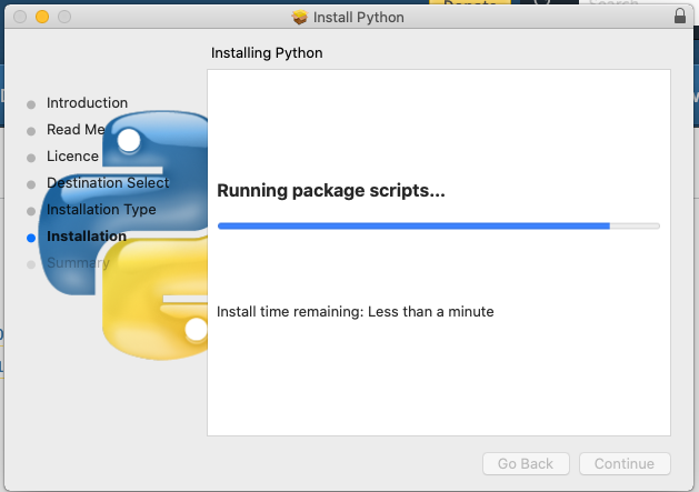 Install Python 3.9 On Mac - Progress