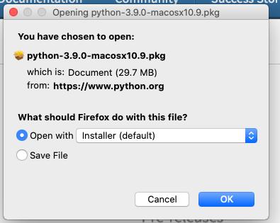 Install Python 3.9 On Mac - Installer