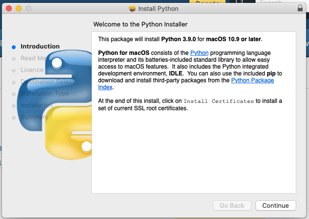 Install Python 3.9 On Mac - Introduction