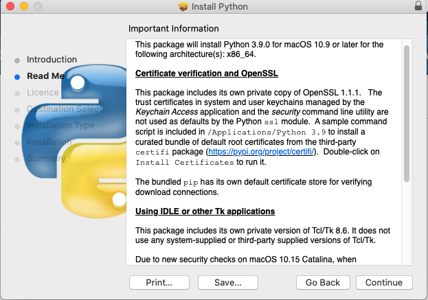 Install Python 3.9 On Mac - Details