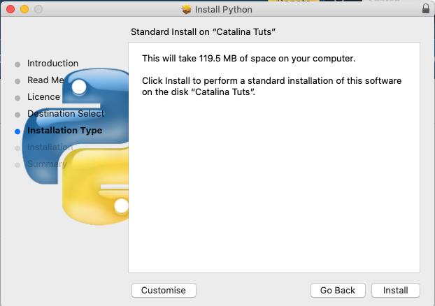 Install Python 3.9 On Mac - Install Type
