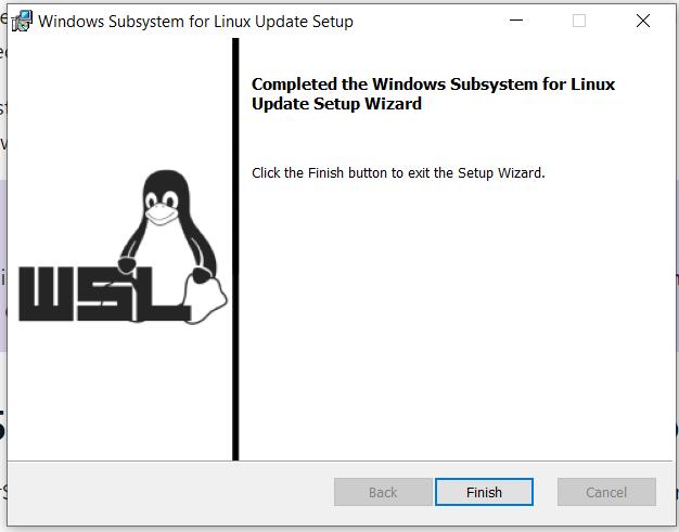 Install Docker Desktop on Windows 10 - WSL Update Installed