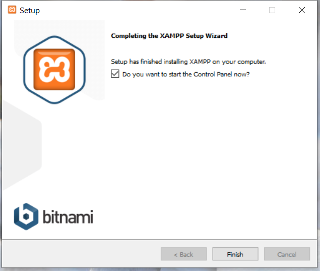 Install XAMPP on Windows 10 - Installation Success