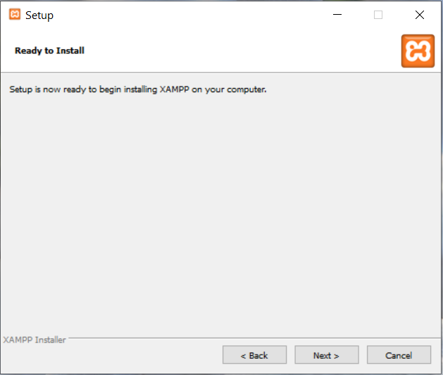 Install XAMPP With PHP 8 on Windows 10 - Start Installation