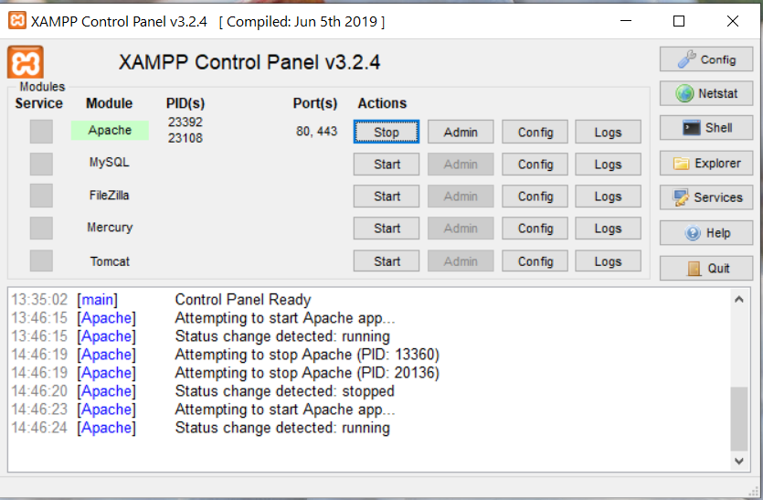 Upgrade PHP to PHP 8 in XAMPP On Windows 10 - Apache Restarted