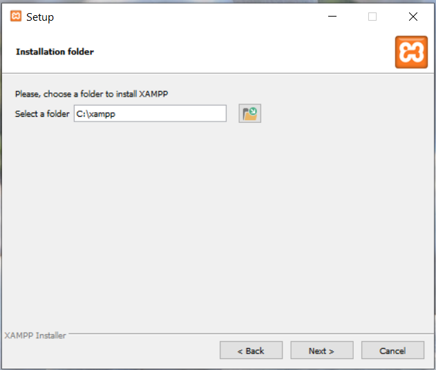 Install XAMPP With PHP 8 on Windows 10 - Installation Path