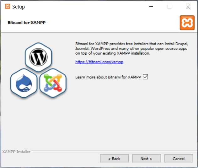 Install XAMPP With PHP 8 on Windows 10 - Bitnami Options