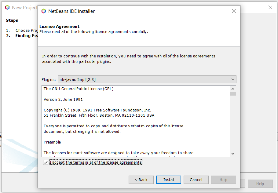 Install NetBeans 12 for Java On Windows 10 - Feature License