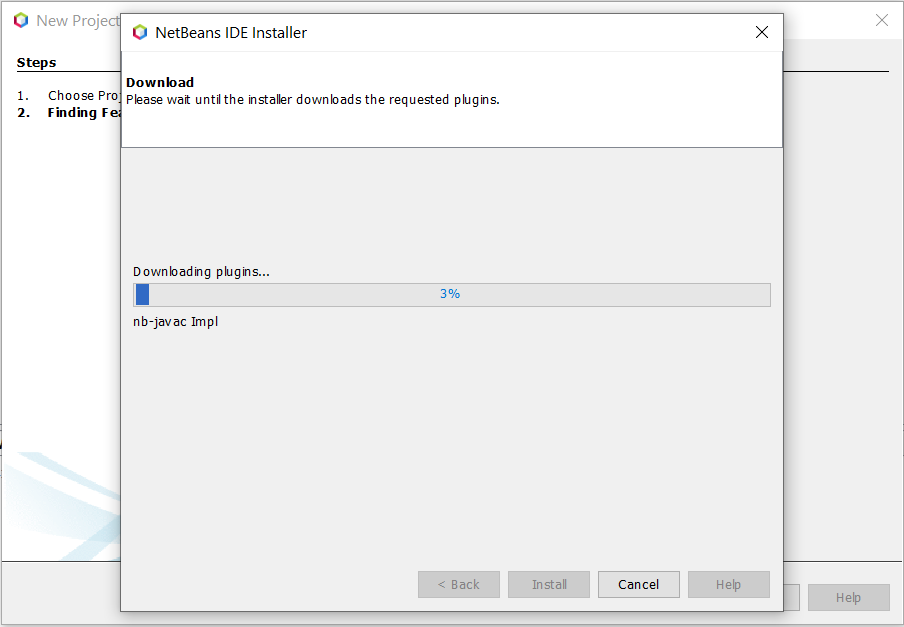 Install NetBeans 12 for Java On Windows 10 - Feature Progress