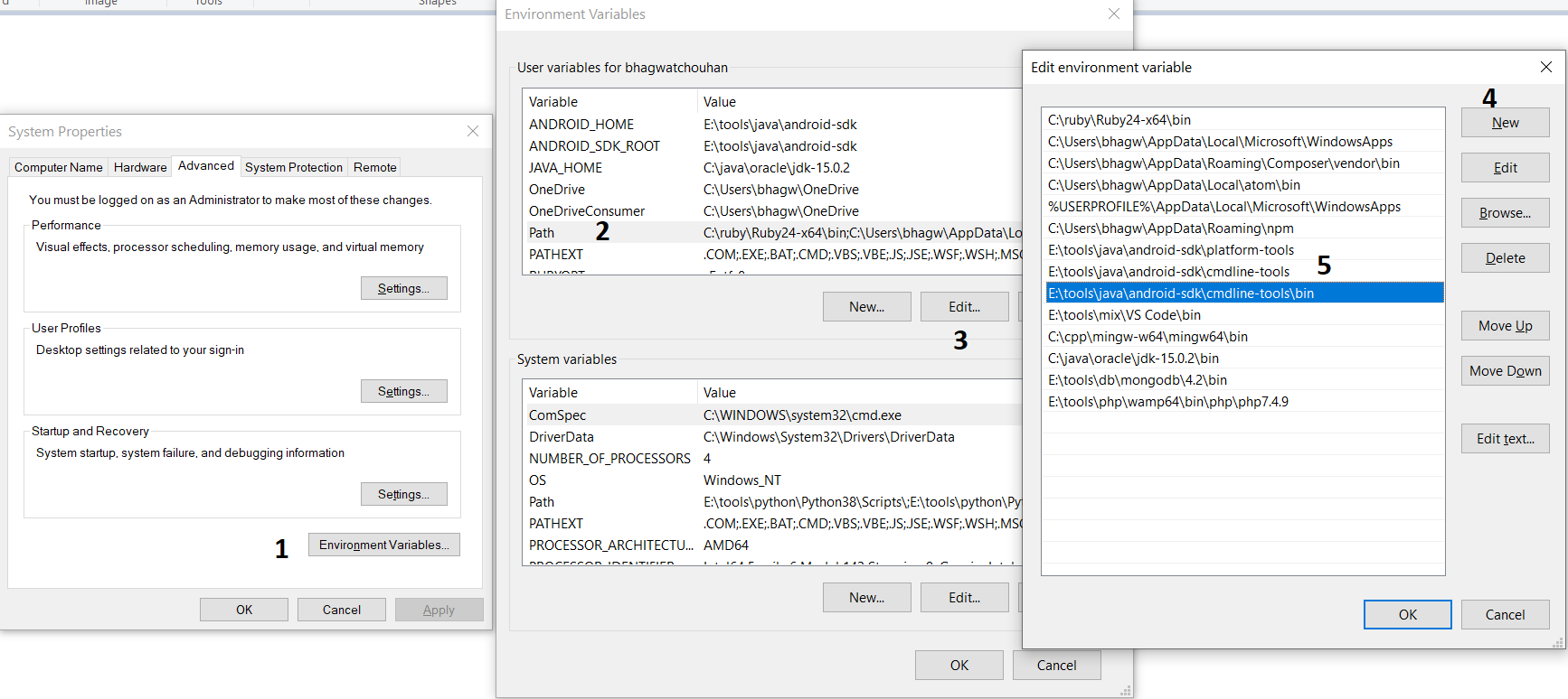 Install Android Platform Tools and SDK Manager on Windows 10 - System Path