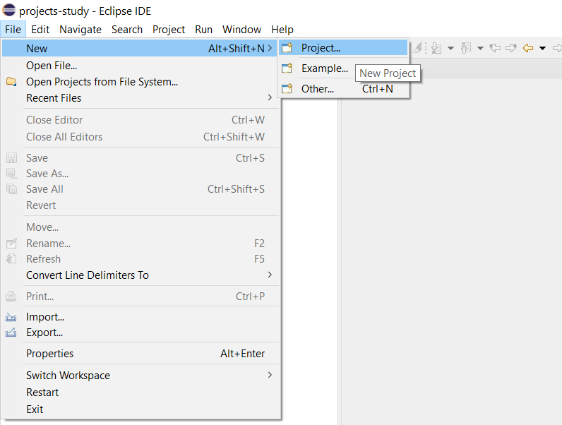 Remote Debug PHP on Windows using Eclipse - Create Project
