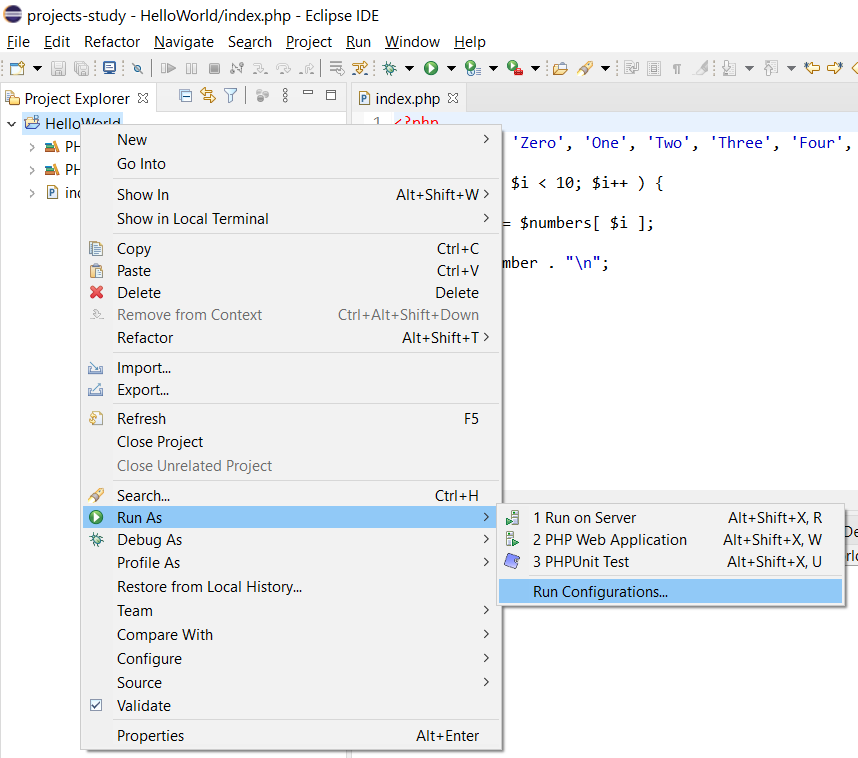 Remote Debug PHP on Windows using Eclipse - Run Configuration
