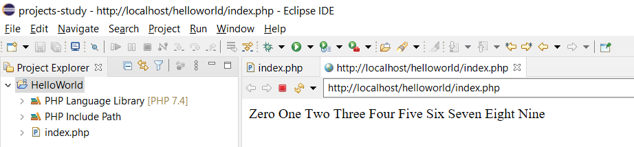 Remote Debug PHP on Windows using Eclipse - Project Output
