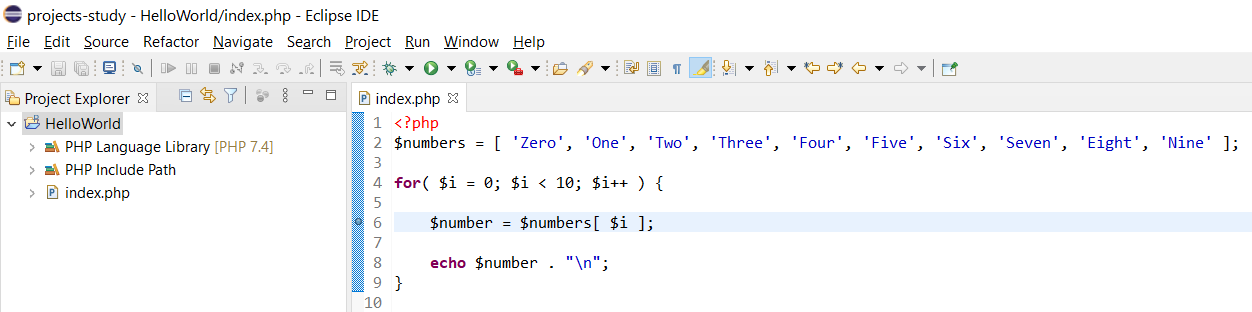 Remote Debug PHP on Windows using Eclipse - Add Breakpoint