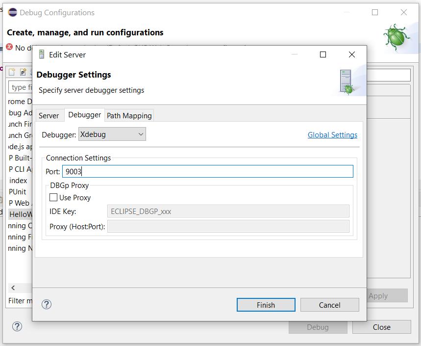 Remote Debug PHP on Windows using Eclipse - Configure Debug Configuration