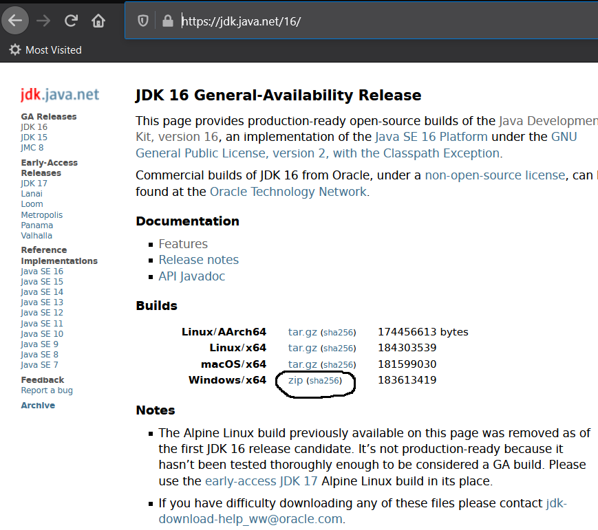 Install OpenJDK 16 or JDK 16 on Windows 10 - Download Options