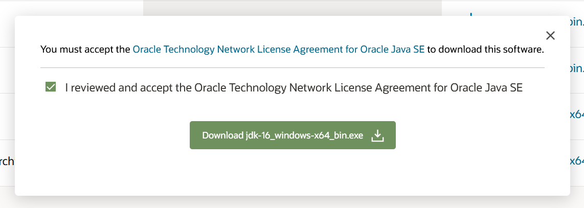 Install Java 16 or JDK 16 on Windows 10 - License Agreement