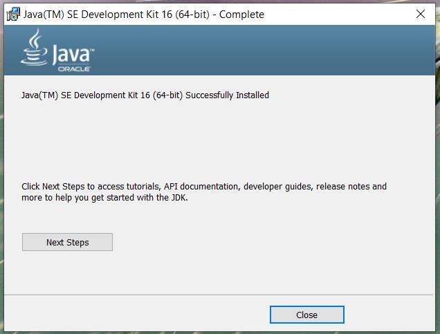 Install Java 16 or JDK 16 on Windows 10 - Installation Success