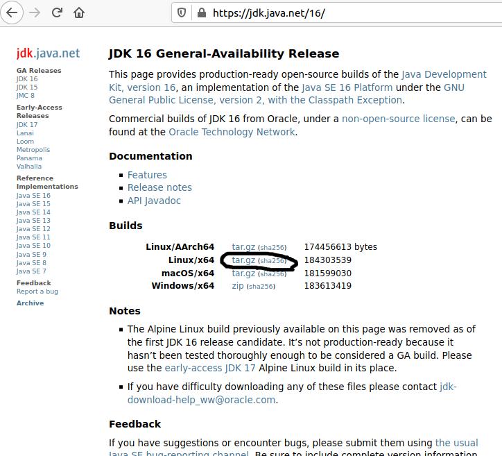 Install OpenJDK 16 On Ubuntu 20.04 LTS - Download Options