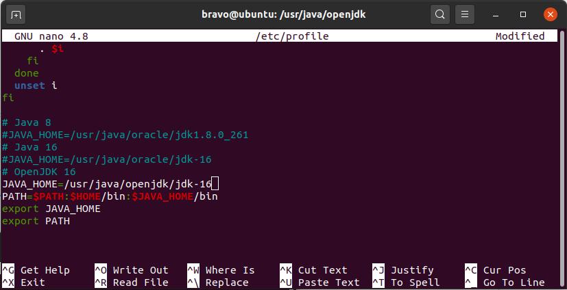 Install OpenJDK 16 On Ubuntu 20.04 LTS - Environment Path