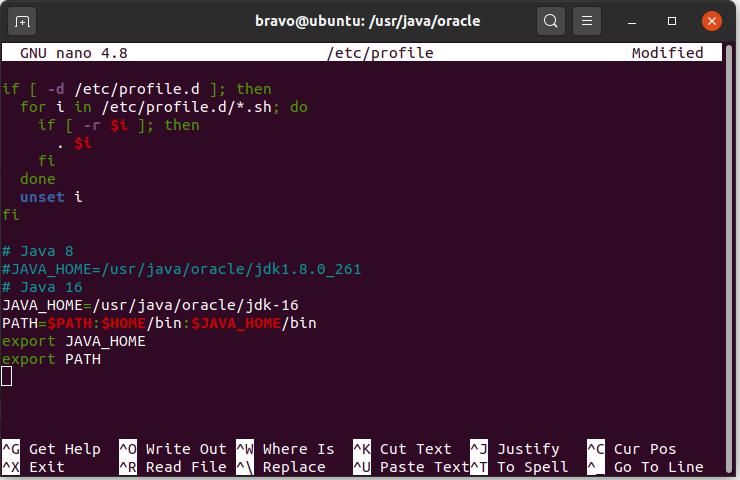 Install Java 16 On Ubuntu 20.04 LTS - Environment Path