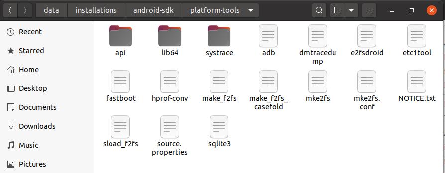 Install Android SDK Tools On Ubuntu 20.04 - Platform Tools