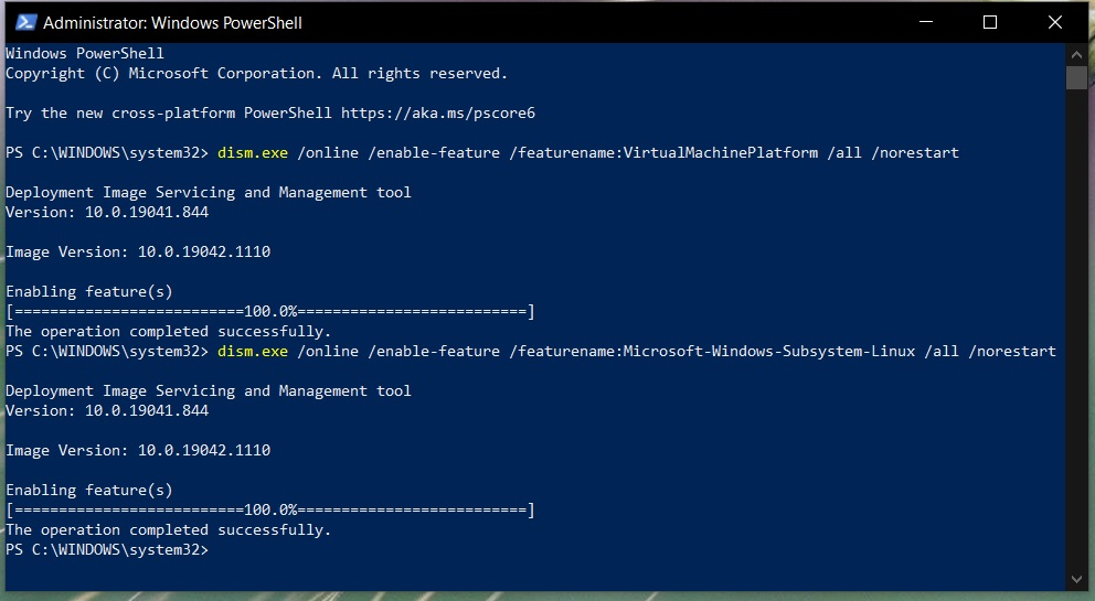 Install Windows Subsystem For Linux WSL 2 on Windows 10 - Enable Virtual Machine Feature