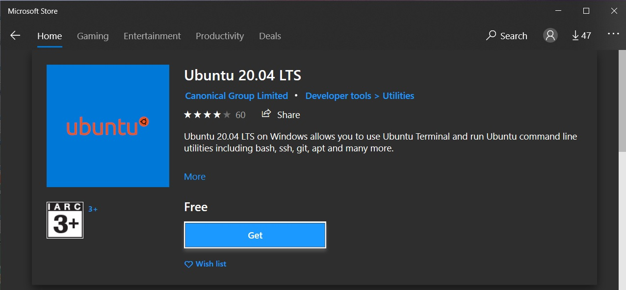 Install Windows Subsystem For Linux WSL 2 on Windows 10 - Download Ubuntu 20.04 LTS