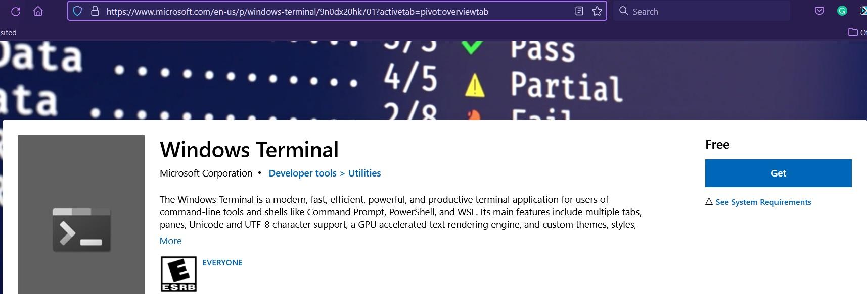 Install Windows Terminal on Windows 10 - Download
