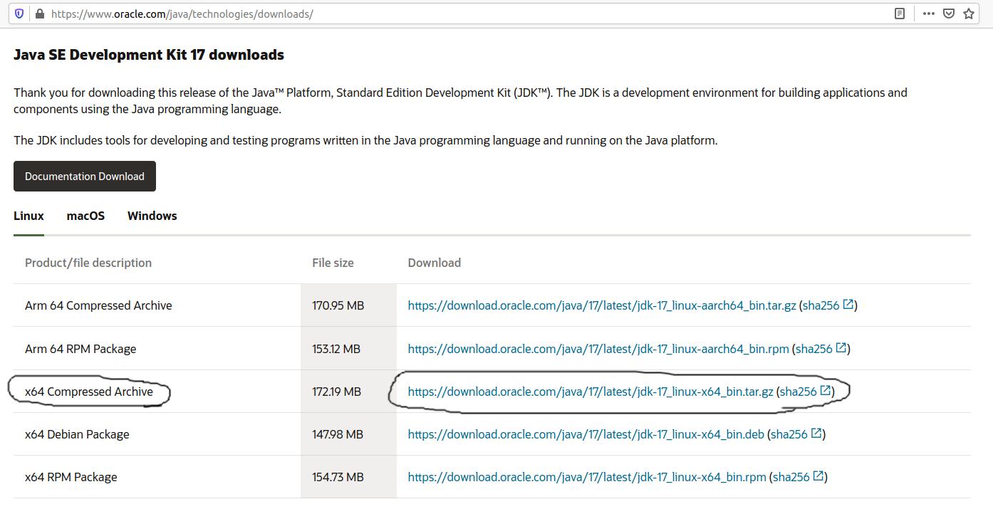Install Java 17 or JDK 17 on Ubuntu 20.04 LTS - Download Options